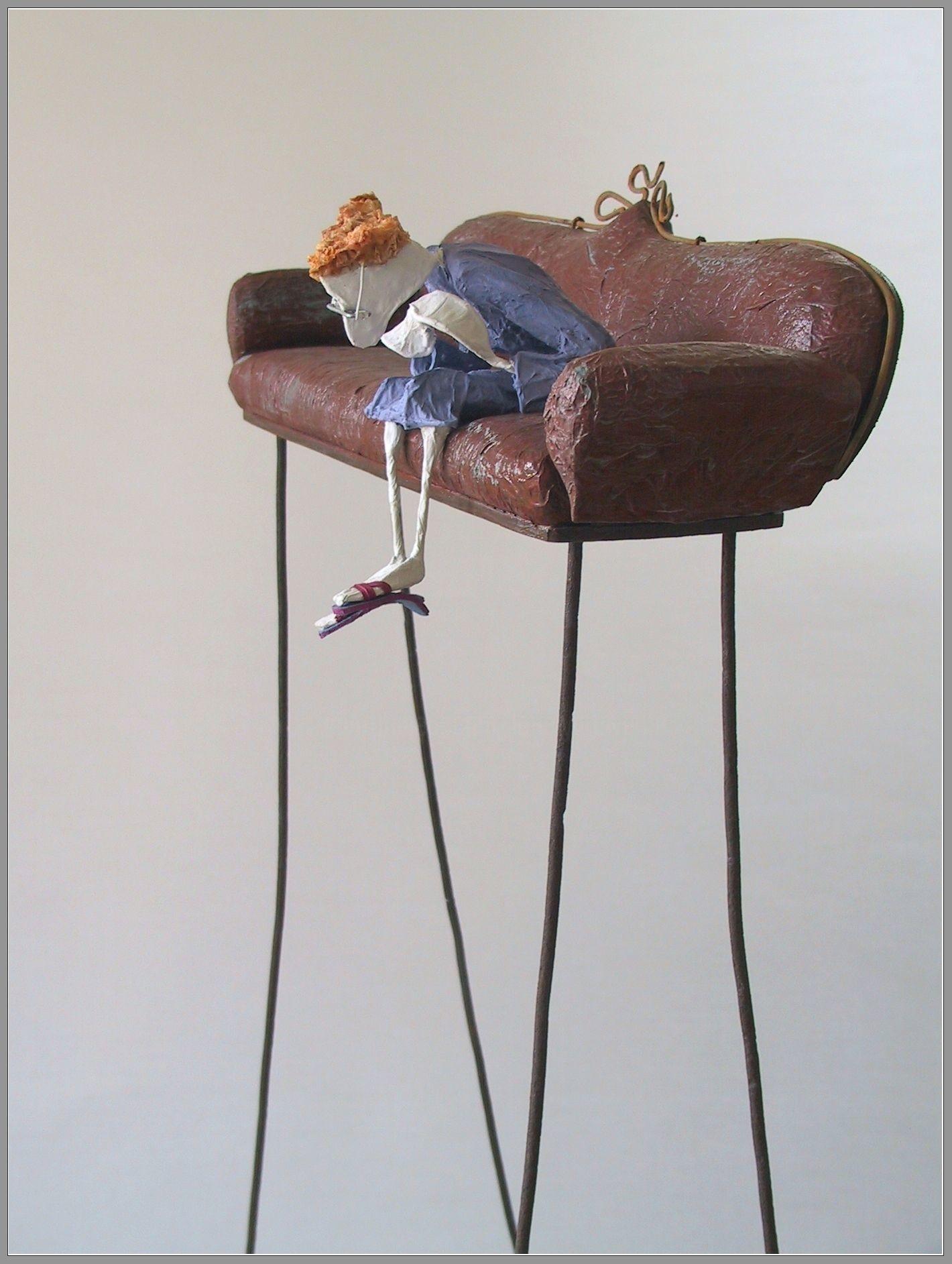 JEAN-YVES VERNE - sculpture - Vertige psychanalytique (Détail)