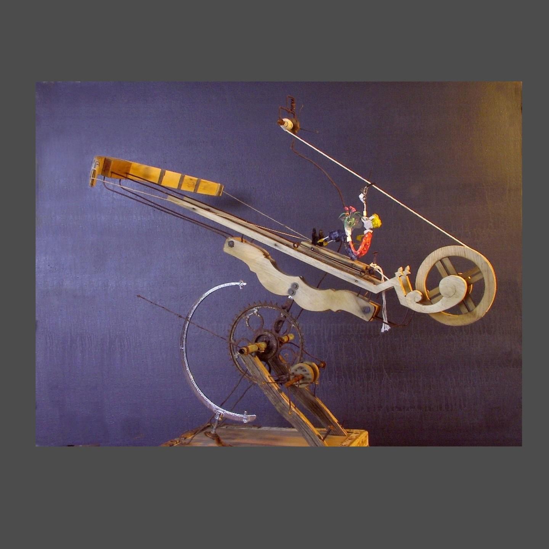 Jean-Yves Verne - éloge des transports avec élans - sculpture