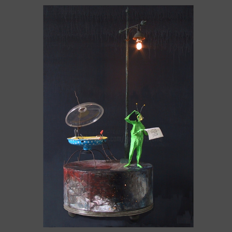 "Jean-Yves Verne - ""voyager"" - installation - sculpture"
