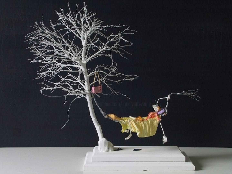 JEAN-YVES VERNE - sculpture - vitesse de liberation    -