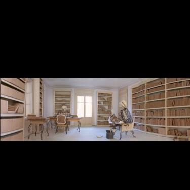 bibliothèque de Voltaire, maquette