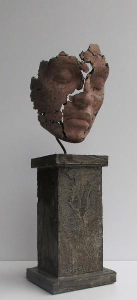 concrete art - sculpture en ciment sur socle