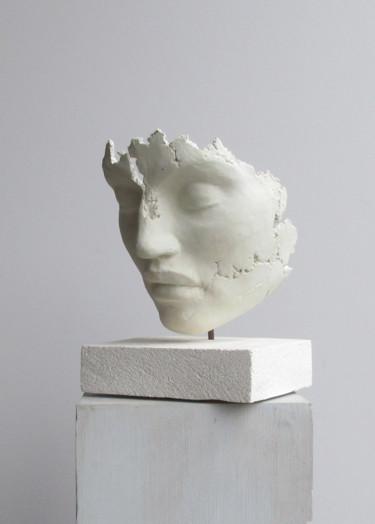 concrete art - sculpture en ciment  blanc-