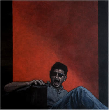 portrait d'homme - le cri