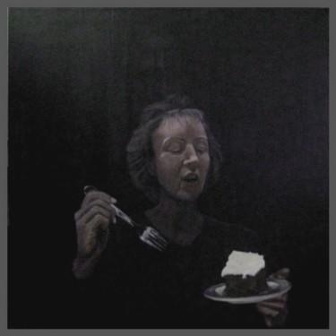 portrait de femme au gâteau