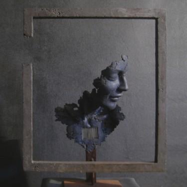 buste bleu dans un cadre