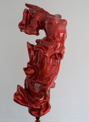 sculpture en résine époxy  H 120 cm + socle