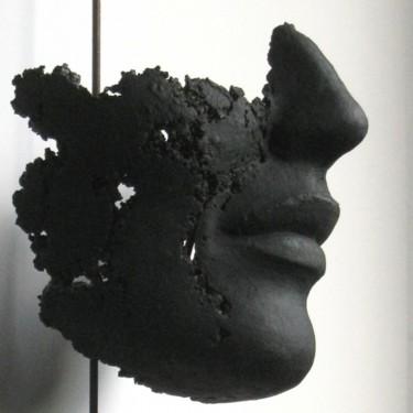 détail de visage - patine noir