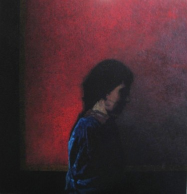 portrait de femme - acrylique.