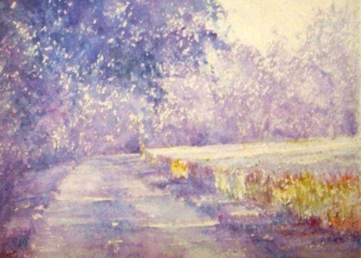 JEAN-YVES VERNE - aquarelle-pleinitude des chemins creux 1