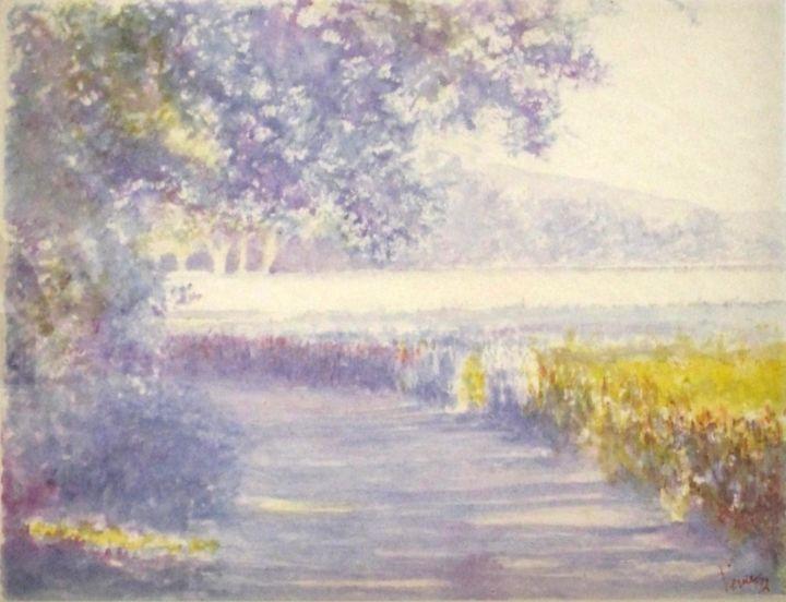JEAN-YVES VERNE - aquarelle- pleinitude des chemins creux