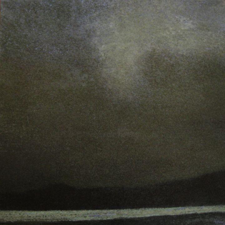JEAN-YVES VERNE - peinture acrylique sur toile - dark landscape